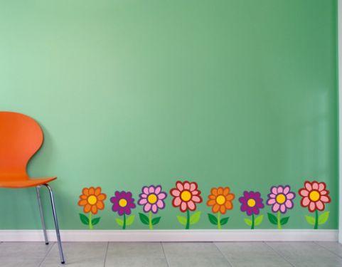 Adesivo de Parede Flores Coloridas