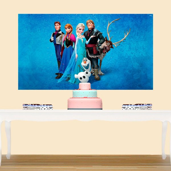Painel de Festa Infantil Frozen