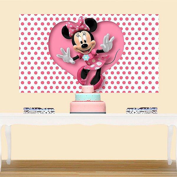Painel de Festa Infantil Minnie