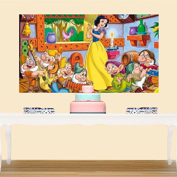 Painel de Festa Infantil Branca de Neve 3