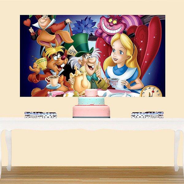 Painel de Festa Infantil Alice no País das Maravilhas