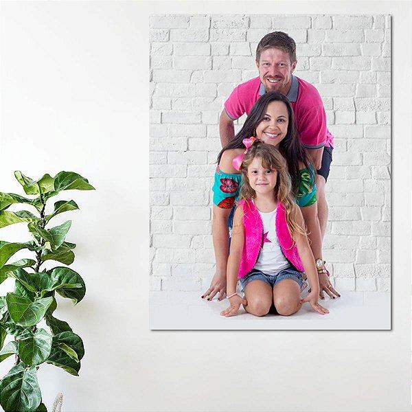 Quadro Personalizado em Tela Canvas 100x150 - família-casal