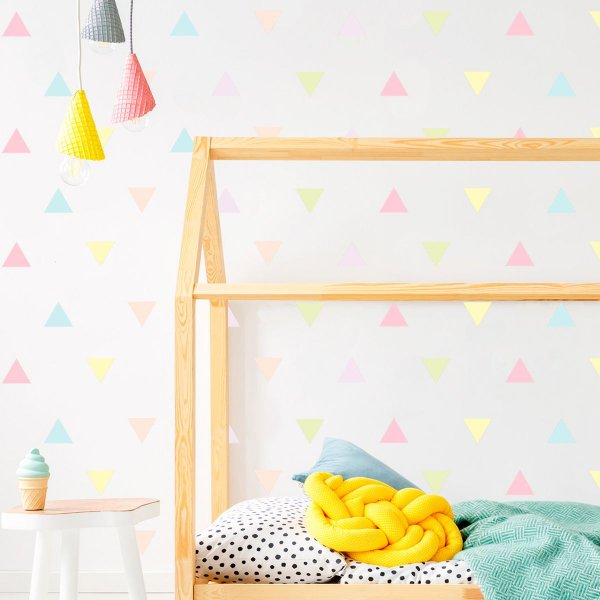 Adesivo de Parede Triângulos Candy Colors