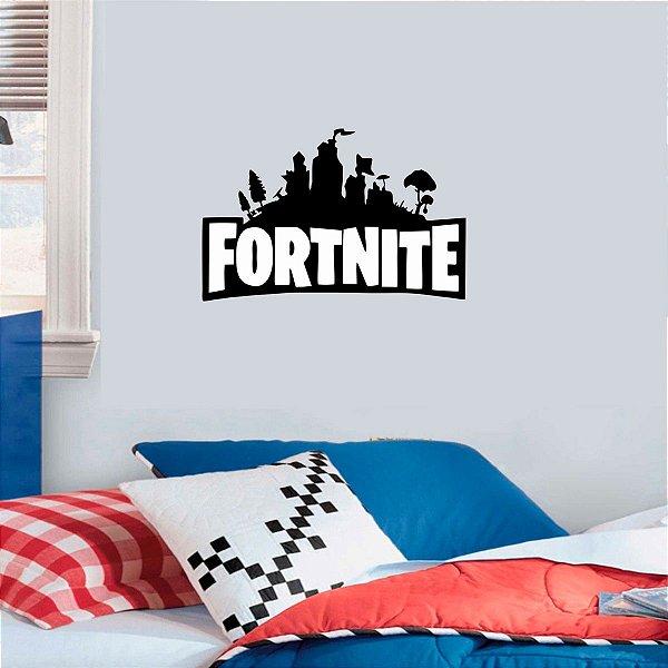 Adesivo De Parede Fortnite Logo - 50x32cm
