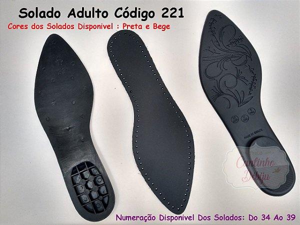 1b608055a6 Solados Sapatilha Com Palmilha Furada Para Crochê Cód.221 - Atêlier ...