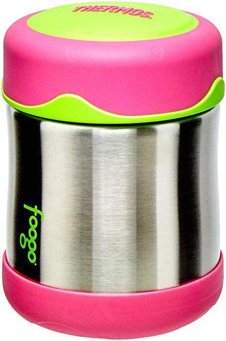 Pote Térmico Thermos Foogo Rosa e Verde