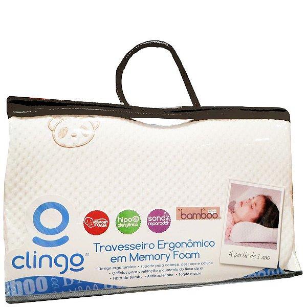 Travesseiro Clingo Ergonômico Memory Foam