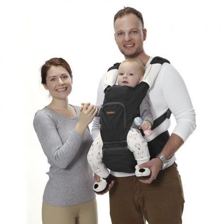 Canguru Fisher Price Preto ou  Bege para Bebê até 15 kg