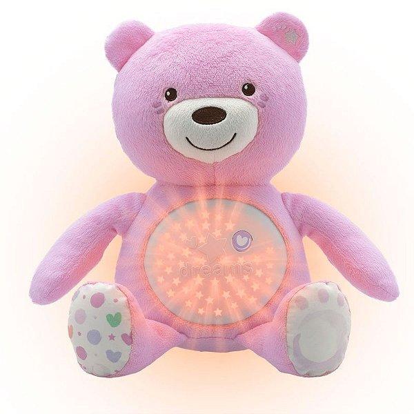 Urso Projetor CHICCO Baby Bear - Urso Boa Noite - Rosa