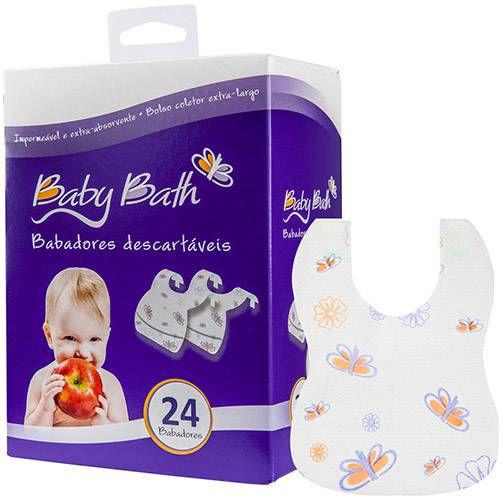 Babadores Descartáveis Baby Bath - 24 unidades