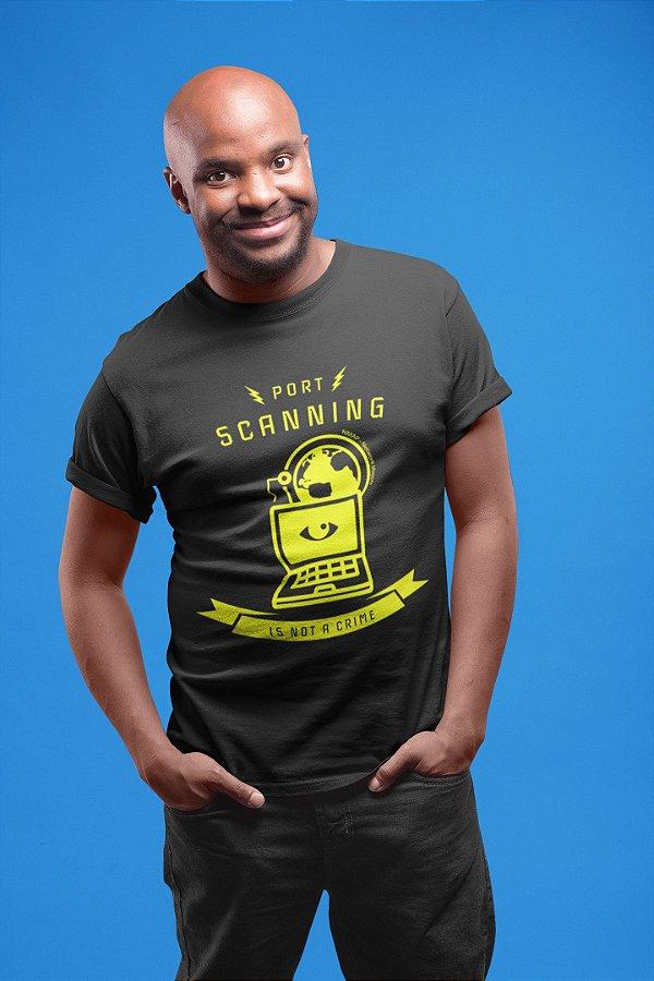 Camiseta Hacker Port Scanning Is Not A Crime