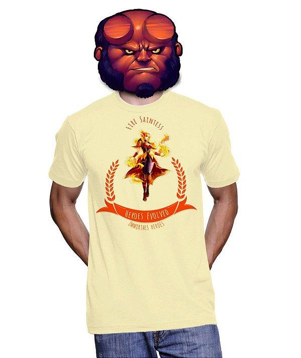 Camiseta Heroes Evolved - Flavia Fire Saintess