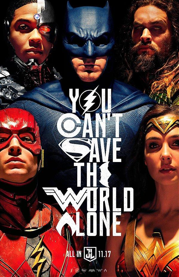 Poster A4 - Decorativo Liga da Justiça