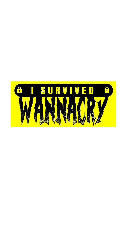 Adesivo I Survived Wannacry