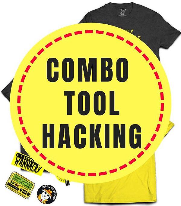 Combo Especial Tool Hacking - 3 Camisetas mais 4 Stickers Brinde