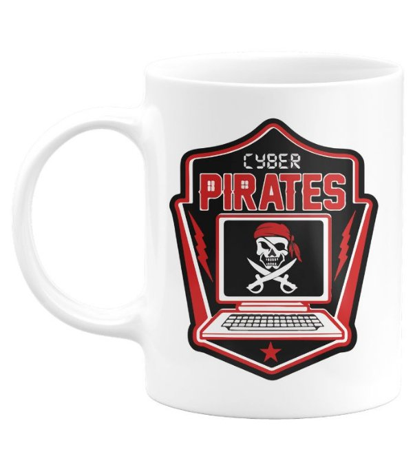 Caneca Hacker Cyber Pirates