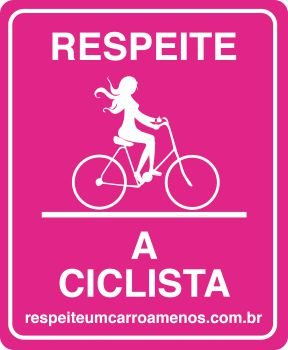 Placa de Sinalização para bicicletas