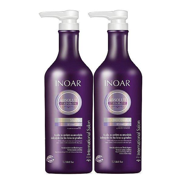 INOAR Kit Speed Blond Shampoo e Condicionador 1Lt
