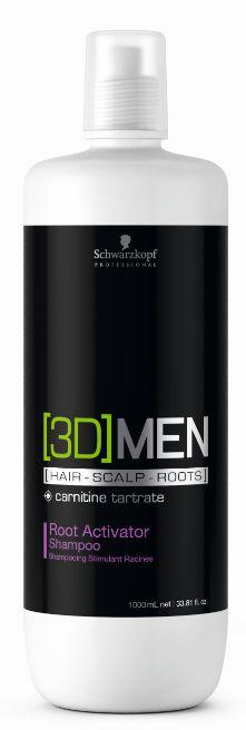 3DMen Shampoo Root Antiqueda Ativador de Raízes SCHWARZKOPF 1000ml