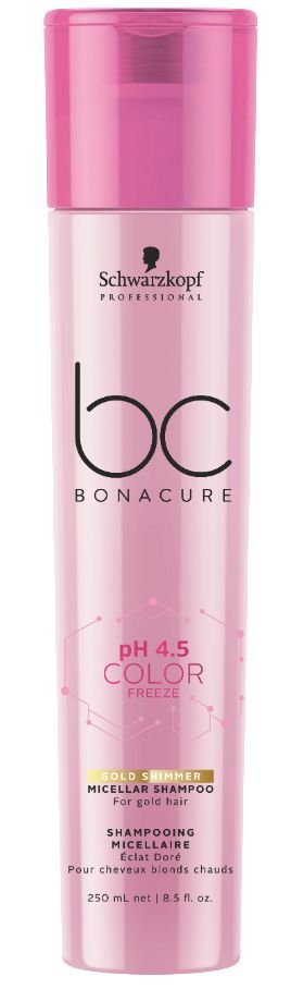 BC pH 4.5 Color Freeze Micellar Shampoo Gold SCHWARZKOPF 250ml