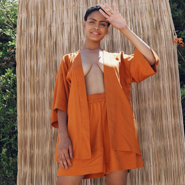 Kimono Marielle Tangerina