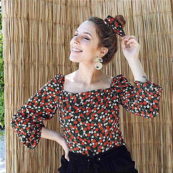 Blusa Anne Floral Camponesa