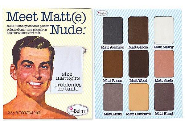 The Balm Paleta de Sombra - Meet Matt(e) Nude