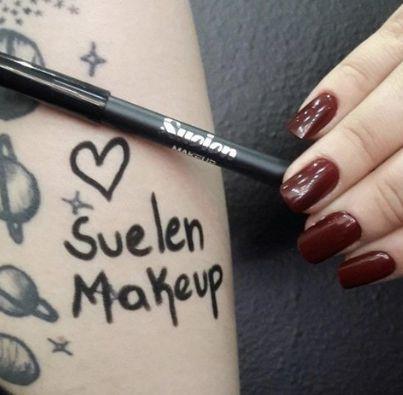 Suelen Makeup Lápis Delineador para Olhos Super Preto à Prova D'água