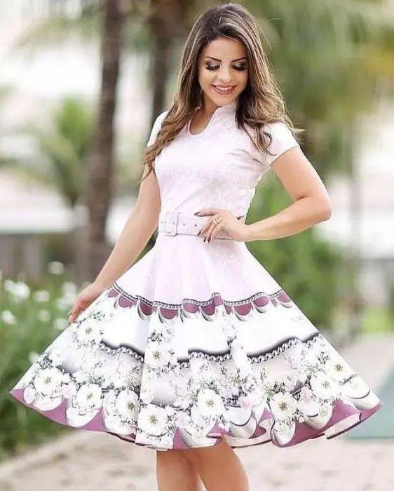 Vestido Godê Laís Neoprene Moda Evangélica