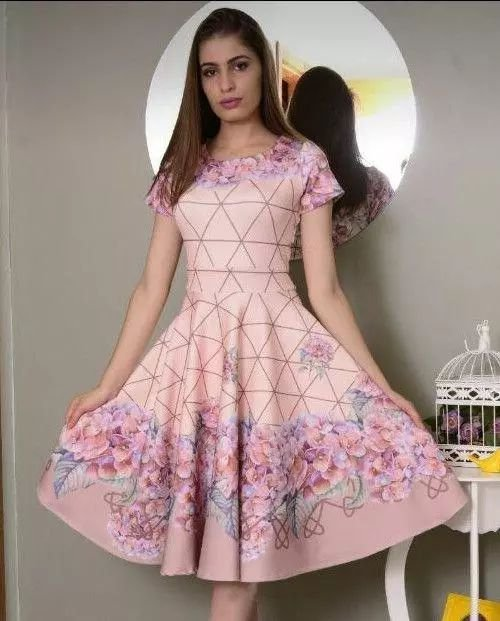 Vestido Midi Princesinha Rosê Floral Moda Evangélica