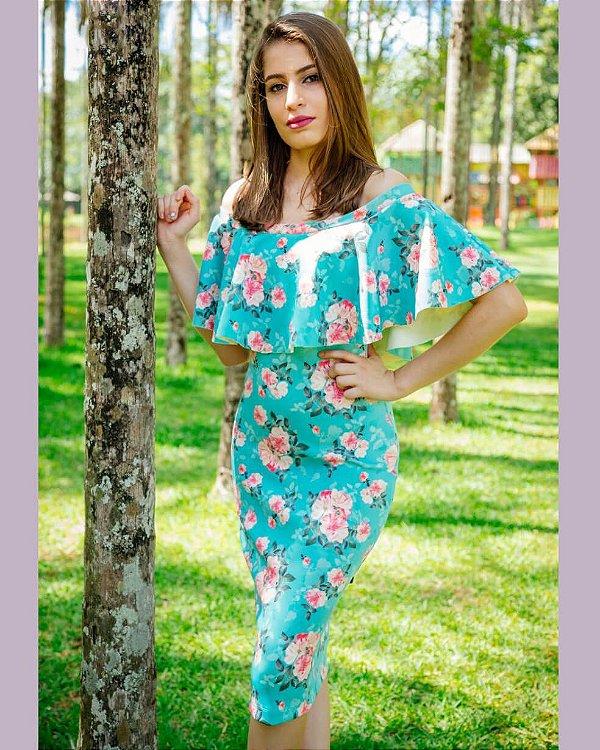 Vestido Tubinho Cinganinha Moda Evangélica