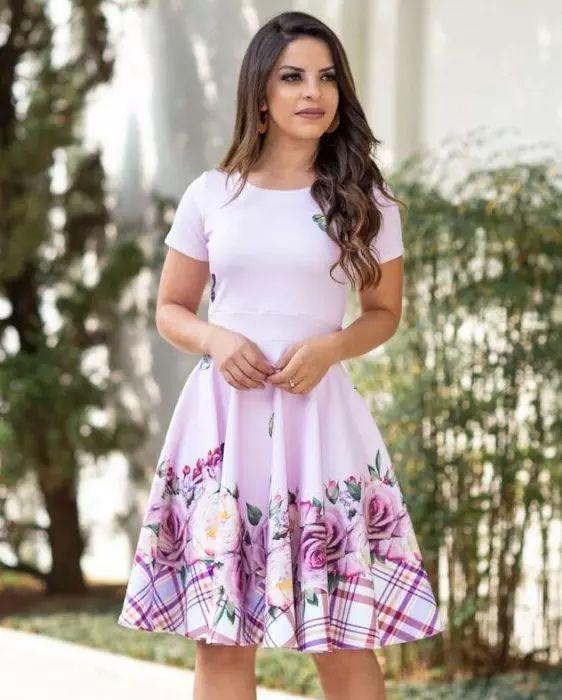 34aef38024 Vestido Midi Daniela Vinho - Moda Evangélica - Flor de Amêndoa