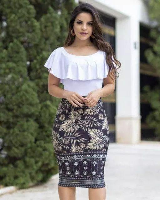 4da2a086f0 Conjunto Mariana - Moda Evangélica - Flor de Amêndoa