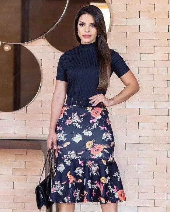5f56a927e4 Conjunto Elisa - Moda Evangélica - Flor de Amêndoa