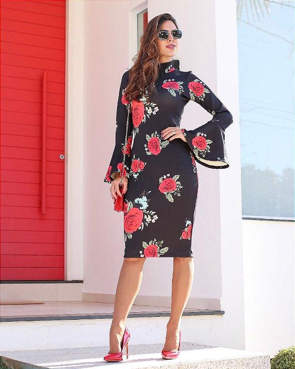 Vestido Tubinho Lara Moda Evangélica