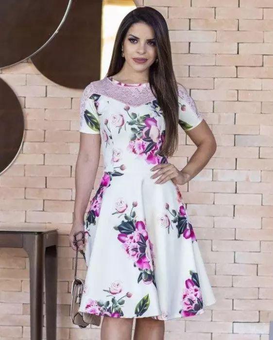 Vestido Midi Jordana com Renda Moda Evangélica