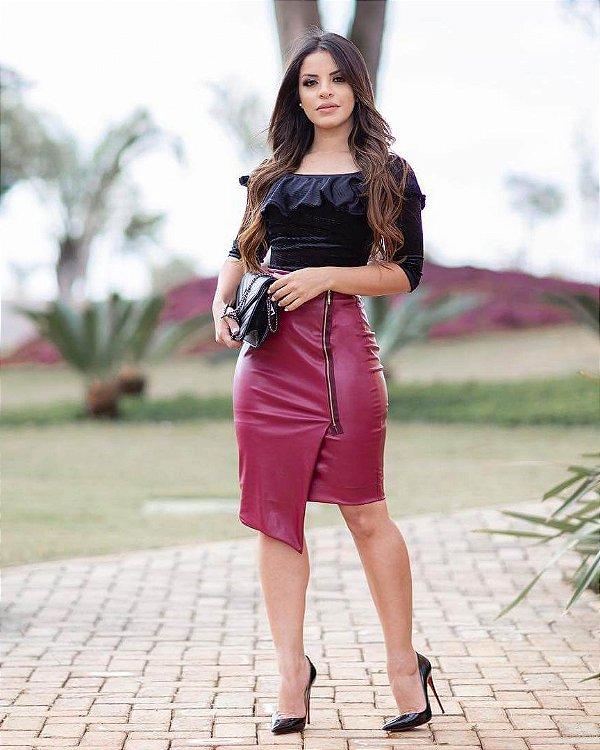 Conjunto Tamany Saia e Body  Moda Evangélica