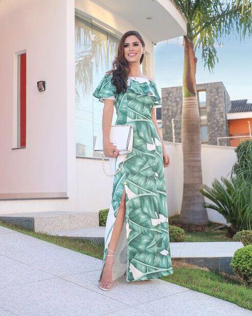 Vestido Longo Helena Moda Evangélica