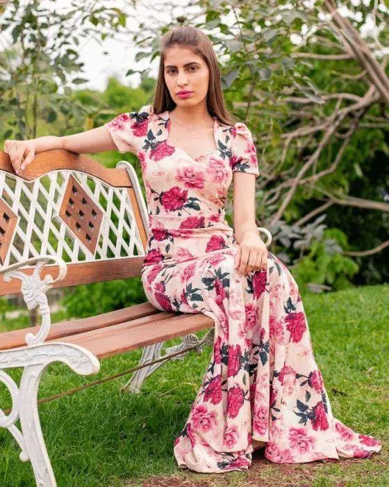 Vestido Longo Florido Moda Evangélica