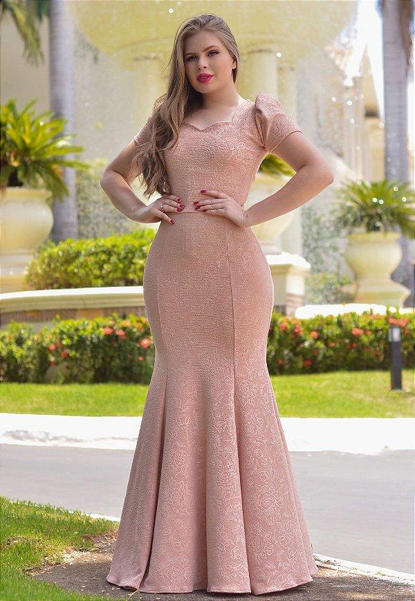 Vestido Longo Sereia em Jacar