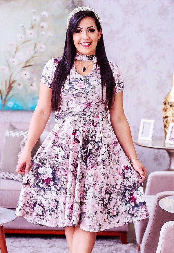Vestido Midi Suplex Gola Choker