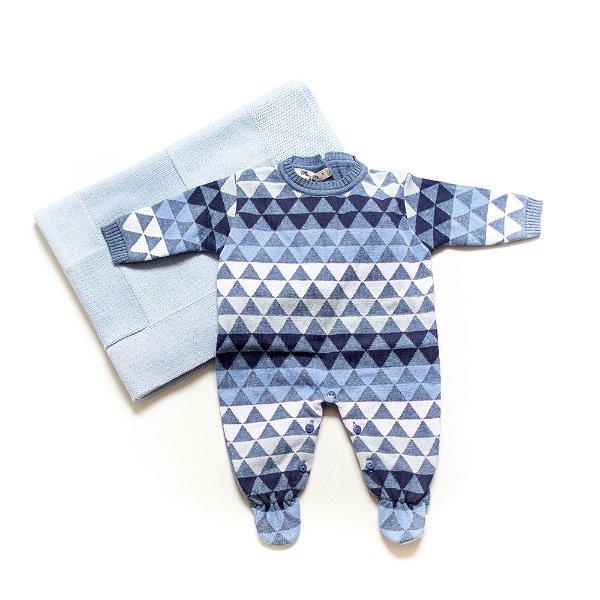 Saída de Maternidade Triangle Azul