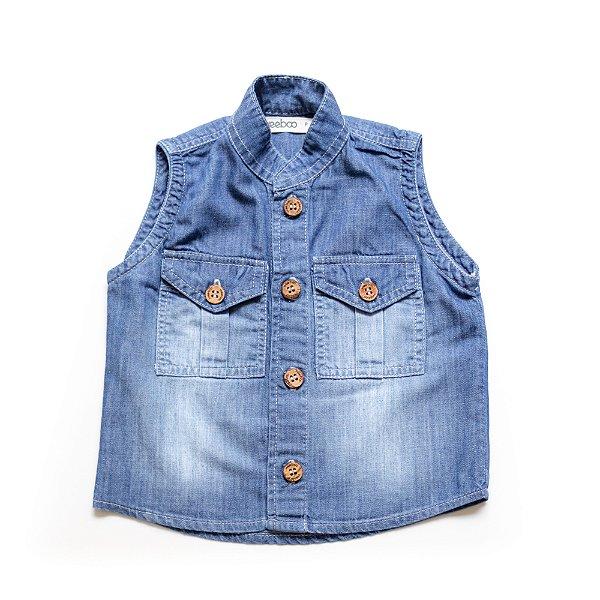 Camisa-Colete Jeans London