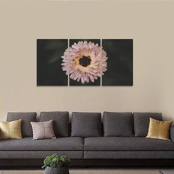 Quadro Floral Conjunto de 3 Telas Flowers
