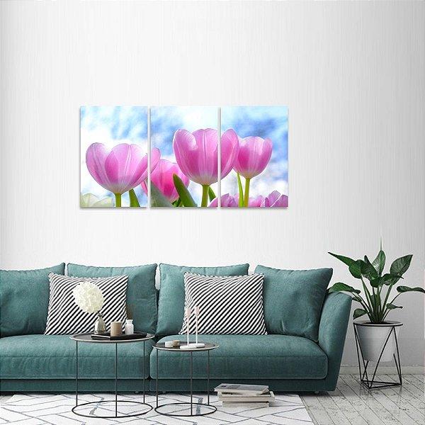 Quadro decorativo Floral Flores Tulipas Conjunto