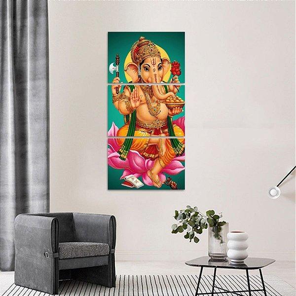 Quadro Mosaico Vertical Lord Ganesha decorativo