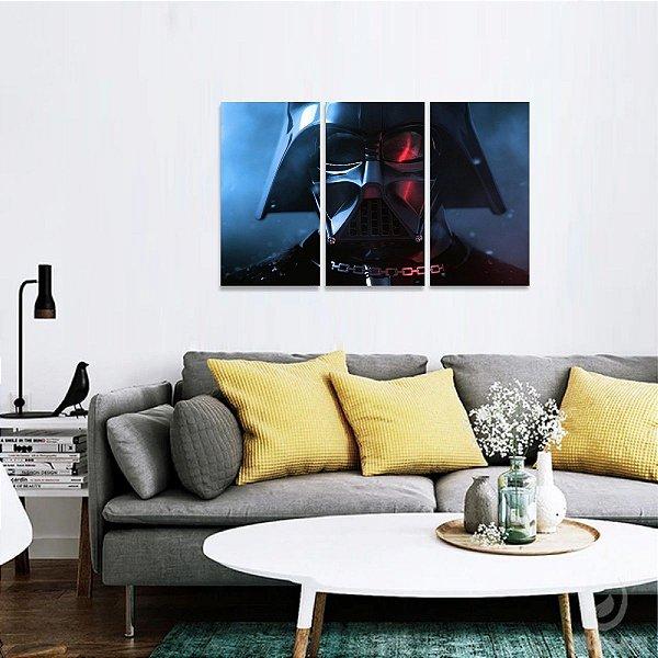Quadro Mosaico Filmes Star Wars decorativo 3 Telas