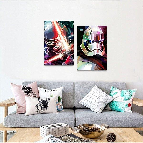 Kit 2 Peças decorativas Filmes Star Wars Arte