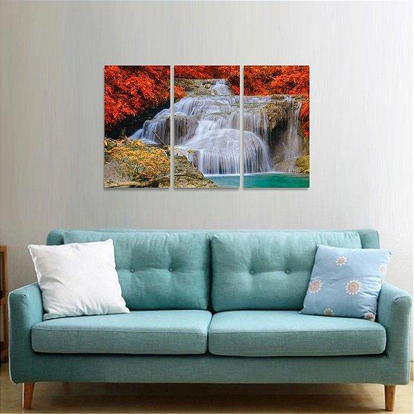 Quadro Cachoeiras Lago Natureza Paisagem Mosaico