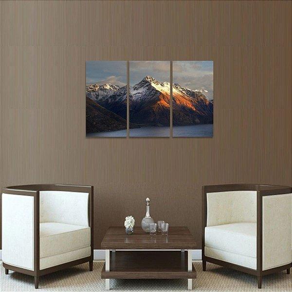 Quadro Montanhas Rio Paisagem Natureza Mosaico